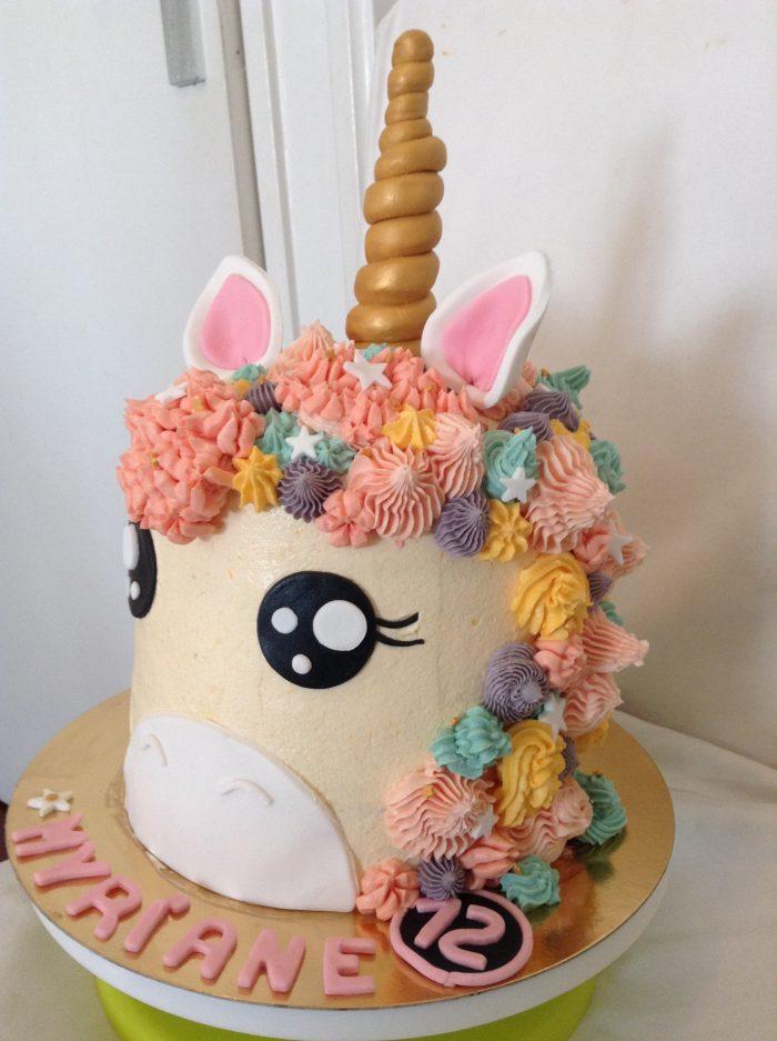 Rainbow Cake LICORNE Cooking Vivi